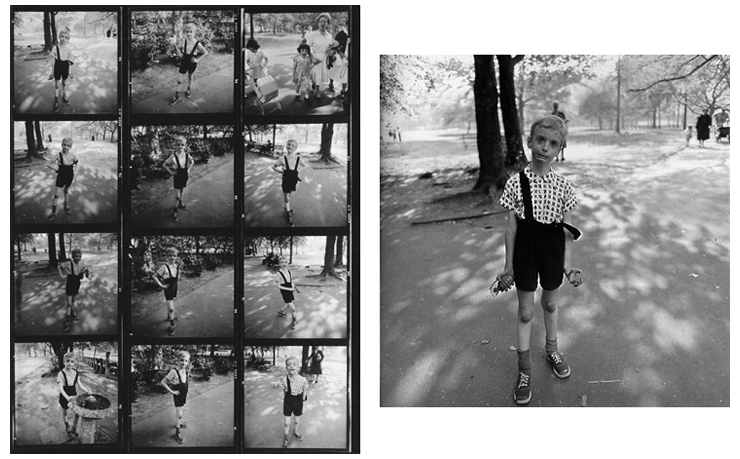 Diane Arbus, Child with toy hand grenade in Central Park, New York City,