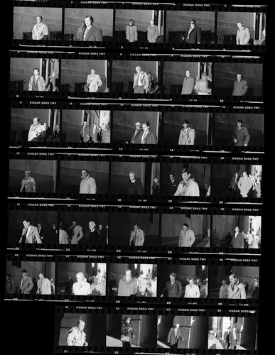 The contact sheet is a visual representation of the film shot and is used to edit which negatives should be enlarged and printed